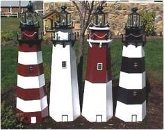 Free Lighthouse Building Plans   lawn lighthouse woodworking plans build you own lawn lighthouse with ...