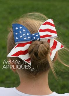 American Flag Cheer BIG BOW project ITH