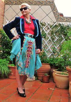silk embelish skirt -from Oxfam shop in Leeds