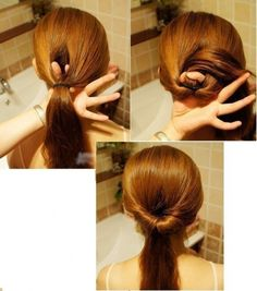 Peinados faciles uploaded by July montoya on We Heart It Easy Hairstyles For School, Step By Step Hairstyles, Elegant Hairstyles, Hairstyles Haircuts, Braided Hairstyles, Amazing Hairstyles, Nina Secrets, One Step, Bronze