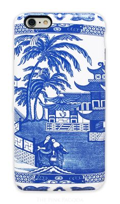 The Blue and White Canton Phone Case will be such a favorite for all of the Chinoiserie and blue and...