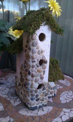Bird House Kits Make Great Bird Houses Bird House Feeder, Bird Feeders, Pebble Mosaic, Mosaic Art, Birdhouse Designs, Unique Birdhouses, Birdhouse Ideas, Homemade Bird Houses, Mosaic Birds