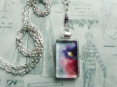 The Blushing - Handmade Glass Pendant Necklace by turquoiseeye, £12.20