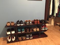 Want more shoes but have no place for them? Why not shoe rack? (DIY sexy but super easy rack). #styled247