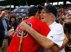 Johnny Pesky and Jacoby Ellsbury. This just melts my heart.