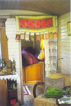.boho ~ fabric / curtain / seating
