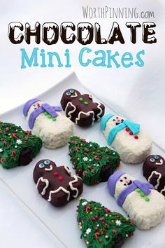 Worth Pinning: Spread some Holiday Cheer with Chocolate Mini Cakes