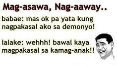 Bawal ang related. Lol. Pinoy Jokes Tagalog, Tagalog Quotes, Quotations, Qoutes, Funny Hugot Lines, Filipino Humor, Patama Quotes, Hugot Quotes, Live Life Happy