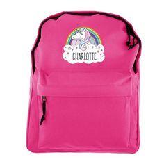 Personalised Pink Backpack - Unicorn
