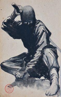 Black ninja rules the night. Ninja Warrior, Samurai Warrior, Oriental, Fantasy Warrior, Fantasy Art, Samurai Artwork, Ninja Art, Black Anime Characters, Japanese Warrior