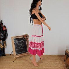 sze  S / M  Boho Indi Cotton Skirt Maxi by EleanorFayesFashion