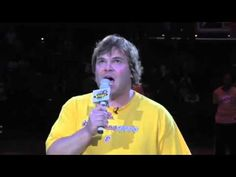 Jack Black sings the national anthem, absolutely kills it 2013