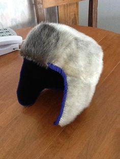 Inuit child's sealskin hat by Minnie Pudlat
