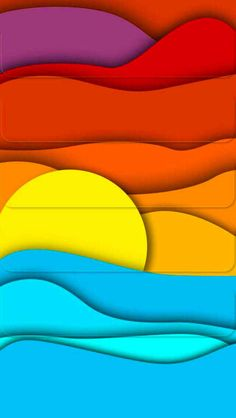 Solve Sunset jigsaw puzzle online with 112 pieces Surf Art, Stained Glass Patterns, Art Plastique, Rainbow Colors, Paper Cutting, Art Lessons, Watercolor Art, Art For Kids, Paper Art