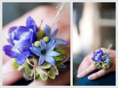 Something Blue by angelasbellaflora #Flower_Ring