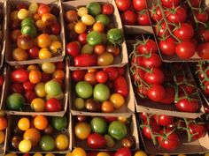 Speciality tomatoes from The Tomato Stall on the Isle of Wight in the sunshine at Abergavenny Food Festival 2015. #fresh #tomatoes #beautiful #sunny #display #foodfestival #happy #healthy