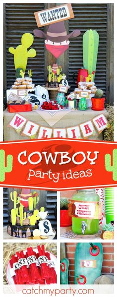 Check out this fun Wild West Cowboy birthday party! The birthday cake is fantastic!! See more party ideas and share yours at CatchMyParty.com #catchmyparty #partyideas #wildwestbirthdayparty #cowboybirthdayparty