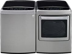 LG PAIR SPECIALMega Capacity High Efficiency Top Load Laundry System Graphite Steel WT1801HVA_DLEY1701V -- See this great product. (Note:Amazon affiliate link)