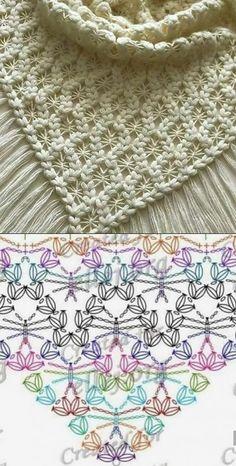 up-to-date Totally Free Crochet poncho dress Suggestions Der Neuen : Chinese Japanse linten – The Collection 1 – Modnoe Vyazanie Crochet Diagram, Crochet Chart, Crochet Motif, Crochet Flowers, Knit Crochet, Crochet Doilies, Crochet Tops, Crochet Bikini, Poncho Au Crochet
