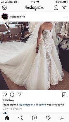 Fancy Wedding Dresses, Gorgeous Wedding Dress, Designer Wedding Dresses, Wedding Attire, Bridal Dresses, Beautiful Dresses, Wedding Gowns, Bridesmaid Dresses, Detachable Skirt Wedding Dress