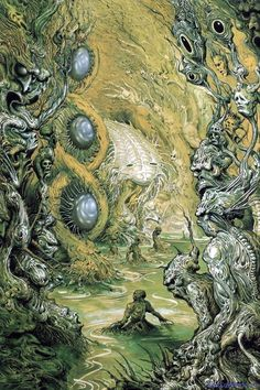 Swamp Thing by Ian Miller Arte Horror, Horror Art, Lovecraftian Horror, Arte Obscura, Sword And Sorcery, Baphomet, Monster Art, Science Fiction Art, Art Graphique