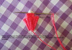 Needle Weaving is one the decorative or fancy stitches used in gingham embroidery. Needle weaving does not weaken the fabric rather st...