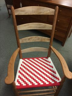Cherry W/spalted Maple Tappan Arm Chair. Chilton Furniture, Freeport, ME,