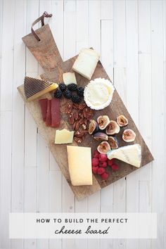 Entertaining is fun, so why not build the perfect Cheese Board for your guests? #recipes #cheeseboards #holidayparty http://www.weddingchicks.com/2013/07/15/the-perfect-cheese-board/