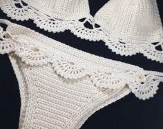 Conjunto Bikini de ganchillo ganchillo por InLoveWithSunflowers