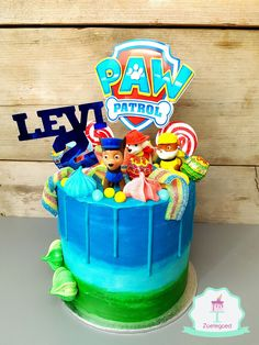 18 ideas party kids ideas decoration paw patrol for 2019 Paw Patrol Birthday Cake, Paw Patrol Cake, Paw Patrol Cupcakes, Lolly Cake, Cumple Paw Patrol, Cumple Toy Story, Wedding Snacks, Bithday Cake, Drip Cakes