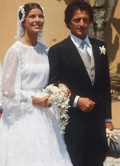 Princess Caroline of Monaco wed French businessman Philippe Junot (17 years her senior) in a civil ceremony in Monaco on June 28, 1978 amids...