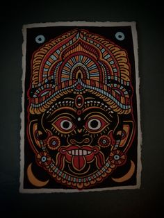 KALI . Acrylic on Handmade cotton Paper from south India . In...