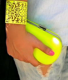 yellow neon accessories