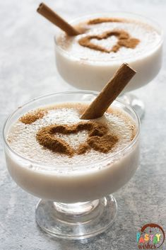 Rizogalo is a classic, creamy Greek dessert! This recipe is really easy to make with just a handful of ingredients. Greek Rice Pudding, Greek Desserts, Long Grain Rice, Plant Based Milk, Fresh Milk, Vegan Options, Cinnamon Sticks, Food Print, Vegan Recipes