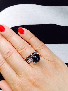 Absolutely in love with my black garden odyssey ring.