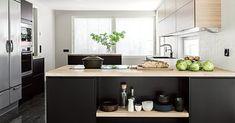 Katso galleriakuvia keittiöistä - Topi-Keittiöt Kitchen Dining, Kitchen Island, Design Moderne, Ikea Hack, Home Kitchens, Bedroom Decor, Interior Design, Table, House