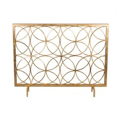 Antique Gold Circles Fireplace Screen Dessau Home Screens Fireplace Accessories Home Decor