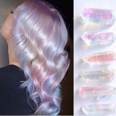 Hair Inspo Is EVERYWHERE💎 ✨ Crystallized hair created by using Vivids treated with . Creative Hair Color, Cool Hair Color, Hair Inspo, Hair Inspiration, Hair Dye Colors, Unicorn Hair, Aesthetic Hair, Dream Hair, Crazy Hair