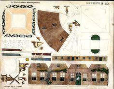Papiermodell Windmühle, paper windmill, Funke-De Haan-Segboer - centsprent - Picasa Web Albums