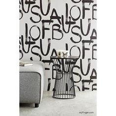 356141 Light Grey Brushstroke Text - Fabulous - Black And Light Wallpaper by Eijffinger