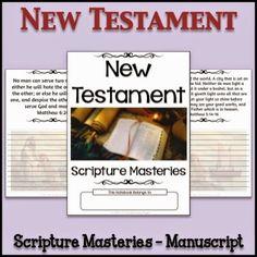 LDS Notebooking: New Testament Scripture Masteries Copywork Notebook - Manuscript