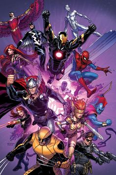 Marvel Heroes by Steve McNiven