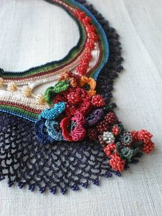 crocheted jewellery