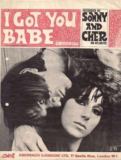 """Sonny & Cher """"I Got You Babe"""" (1965) sheet music"""