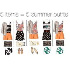 Summer remixing by frutini, via Polyvore...styling tips GALORE- I don't even know where to start!!