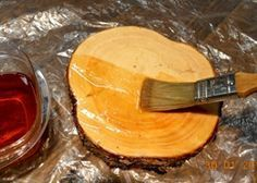 How to preserve wood slices for a garden path.