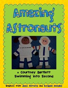 Enhance your student of space with the cute astronaut creativity. Included in this pack are tracing patterns for the astronauts, 6 pieces of writin. Pre K Activities, Space Activities, Science Projects, School Projects, School Ideas, Help Teaching, Teaching Science, Teaching Ideas, Space Theme Classroom