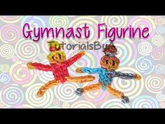 Gymnast Action Figurine/Figurine Rainbow Loom Tutorial- Original Design