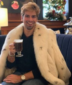 Nothing gets me more into the holiday season than a Spanish coffee.🌲☕🍸 What's your favorite cold weather cocktail? Spanish Coffee, Mens Fur, Grown Man, Furs, Cold Weather, Your Favorite, Fur Coat, Fur Jackets, Men Wear