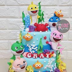 Baby Shark Birthday Cake pertaining to Trending 2020 - Birthday Ideas Make it Monster Birthday Cakes, Shark Birthday Cakes, 1st Bday Cake, Birthday Cake Girls, 2nd Birthday, Birthday Ideas, Shark Cake, Birthday Party Decorations Diy, Savoury Cake